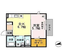 エテルノ[2階]の間取り