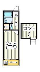 パレスM1[2階]の間取り