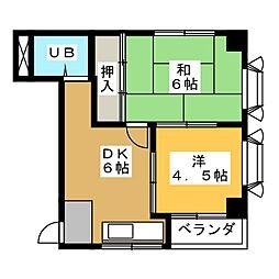 メトロポリス2号館[3階]の間取り