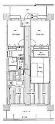 リベール神戸WEST[10階]の間取り