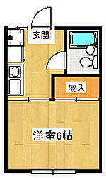 静岡県三島市大宮町2丁目の賃貸アパートの間取り