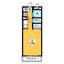 プリメール箱崎[4階]の間取り