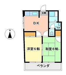 二村ビル[4階]の間取り