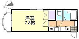 エトワール21船穂 A棟[201号室]の間取り