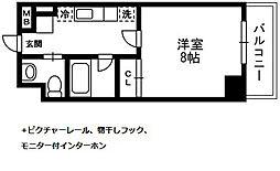 アルペジオ生田[712号室]の間取り