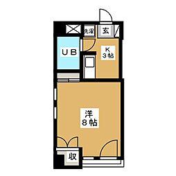 メゾンビッグバードC[3階]の間取り