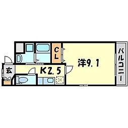 ネオカーサ[2階]の間取り