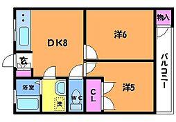 コーポプチ[302号室]の間取り