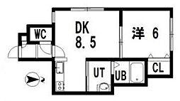 レユシールN12壱番館[101号室]の間取り