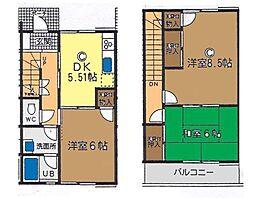 [テラスハウス] 神奈川県茅ヶ崎市赤松町 の賃貸【/】の間取り