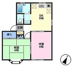 ツインハイム[2階]の間取り