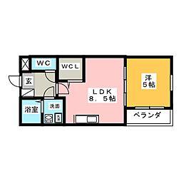 Leciel桜本町[3階]の間取り