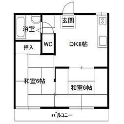 居藤ハイツA棟[201号室]の間取り