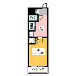 愛知県知多郡阿久比町大字草木字栄の賃貸マンションの間取り
