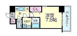 Osaka Metro御堂筋線 江坂駅 徒歩9分の賃貸マンション 5階1Kの間取り