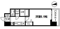 アドバンス大阪ブリアント 9階1Kの間取り