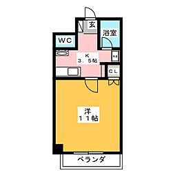ピュアハイム[4階]の間取り