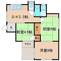 [一戸建] 神奈川県鎌倉市寺分1丁目 の賃貸【/】の間取り