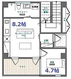 バス 仲井真下車 徒歩5分の賃貸アパート 1階1LDKの間取り