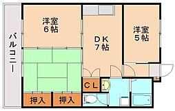 シャトレ和[1階]の間取り
