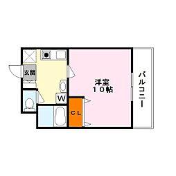 滋賀県草津市西矢倉3丁目の賃貸マンションの間取り