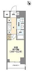 JR山手線 新橋駅 徒歩6分の賃貸マンション 5階ワンルームの間取り