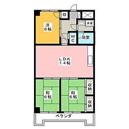 メゾンドベル7[2階]の間取り