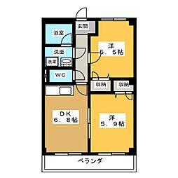 ゲストインM2番館[2階]の間取り
