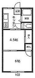 トキワコーポ[101・102号室]の間取り