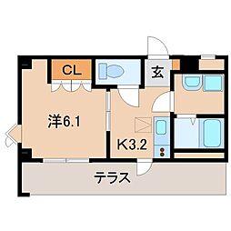 メゾン・ド・ファミーユ[1階]の間取り