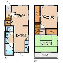 [テラスハウス] 兵庫県神戸市長田区日吉町4丁目 の賃貸【/】の間取り