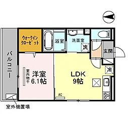仮称)西野小柳町D-room[201号室号室]の間取り