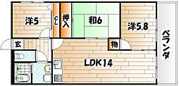 セントラルパーク浅生[3階]の間取り
