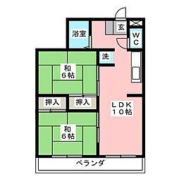 レジデンス光和 N104[2階]の間取り