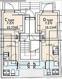 東京メトロ千代田線 湯島駅 徒歩2分の賃貸マンション 2階ワンルームの間取り