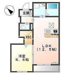 兵庫県神戸市西区和井取の賃貸アパートの間取り