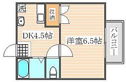 福岡県福岡市博多区東公園の賃貸マンションの間取り