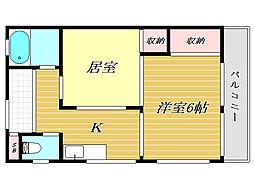 東京都北区赤羽西4丁目の賃貸マンションの間取り