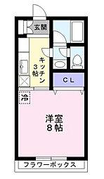 東京都江戸川区江戸川4丁目の賃貸アパートの間取り