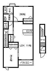 ドリームヒルズ望ヶ丘[2階]の間取り