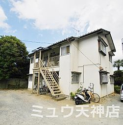 福岡県福岡市中央区御所ケ谷の賃貸アパートの外観
