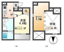 City CUBU[1階]の間取り