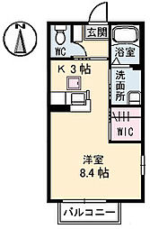 香川県高松市瓦町1丁目の賃貸アパートの間取り
