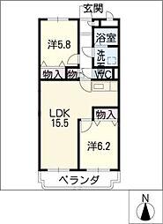 ア・ドリームYAMASHIN[3階]の間取り