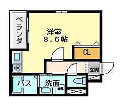 大阪府大阪市東住吉区今林4丁目の賃貸アパートの間取り