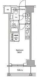 JR総武線 飯田橋駅 徒歩5分の賃貸マンション 2階ワンルームの間取り