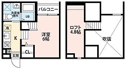 Kiino(キーノ)[1階]の間取り