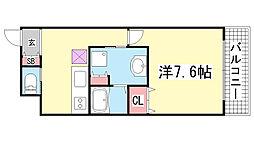 コスモコート元町[10階]の間取り