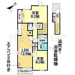 愛知県名古屋市南区元鳴尾町の賃貸アパートの間取り