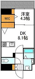 YOU'S VII番館 4階1DKの間取り